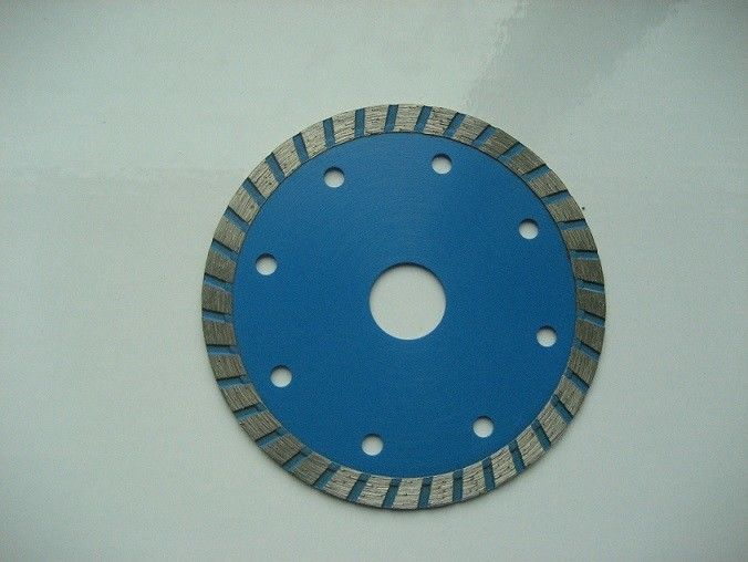 Blue 115mm Turbo Diamond Saw Blade , Circular Saw Masonry Diamond Cutting Blade
