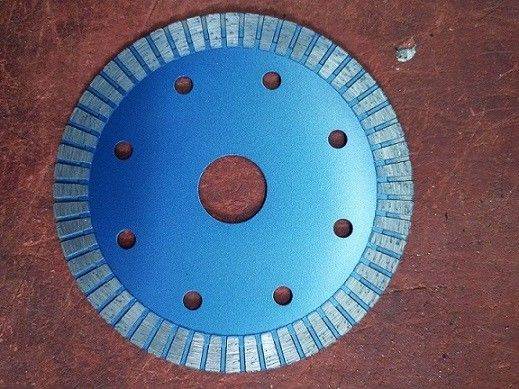 6 Inch 9 Inch Diamond Turbo Blade For Granite 125mm Hot Pressed Silver Blue